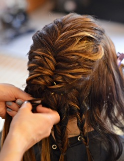 Braids that are complicated to complete a full updo are stunning on a wedding day