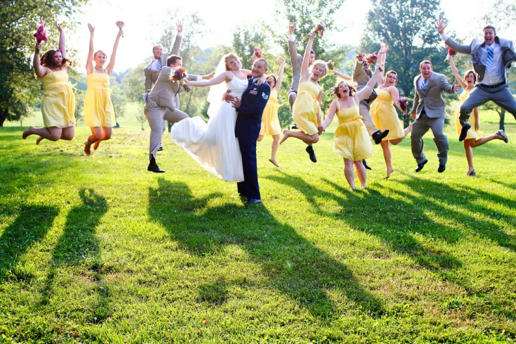 Post-wedding happiness for the bride and groom!
